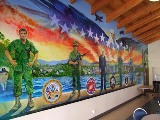 Veterans village san diego art mural for Art mural painting