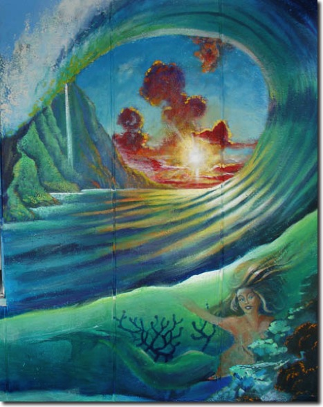 Wave art wave paintings for Art of mural painting