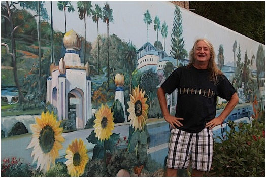 Leucadia Mobile Gas Station Art Mural Painting by Mural Artist Kevin Anderson